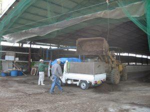 育苗ナスを購入し本田に定植するための土づくりに使用